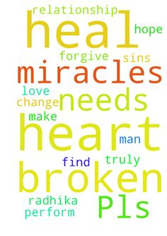 Pls pray for me -   	 		Lord I pray that you can help my broken relationship. I hope that you can heal Radhika heart and find the love that she truly has for me. Lord, I pray that you change me and make me the man that she needs. Only you lord can perform miracles. Only you can heal her broken heart. Lord I ask that you forgive me for all of my sins. 	   Posted at: https://prayerrequest.com/t/61c #pray #prayer #request #prayerrequest