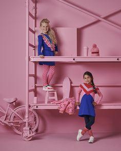 Kijk deze meiden stralen in deze toffe & kleurrijke jurkjes! #Z8 #spotlight #pink #meisjes #girlslook #roze #blauw #kindermode #fashion Spot Light, Kind Mode, Baby Strollers, Girls, Children, Outfits, Style, Wooden Wall Art, Girls Sweaters