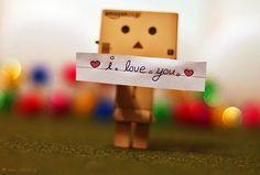 Cute Cardboard Robot I Love You Love,i,love,you,box,cute,love, ...