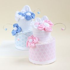 2 Tier Topsy Turvey Diaper Cake by Beau-coup