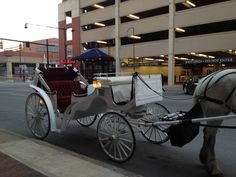 Carriage ride in downtown Indianapolis Indiana
