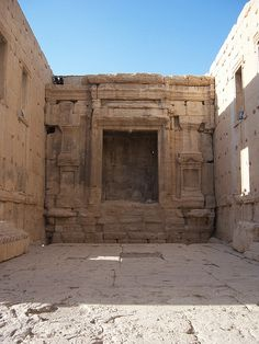 Interior View of the Temple of Baal at Palmyra, Syria. Save Palmyra #Palmyra #Syria #SavePalmyra