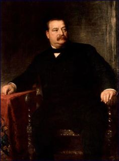 Stephen Grover Cleveland (March 1837 – June was the and President of the United States. Cleveland is the only president to serve 2 non-consecutive terms and He was born on March 1837 in Caldwell, New Jersey. List Of Presidents, Presidents Wives, American Presidents, American History, American Soldiers, British History, American Art, Native American, Presidential Portraits