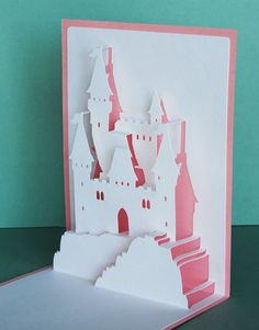 Princess Castle PopUp Card by PeadenScottDesigns on Etsy, $5.00