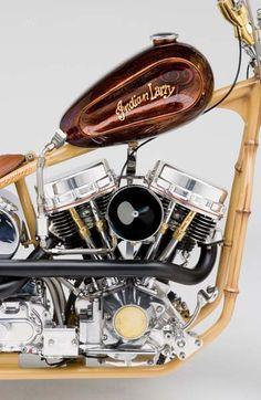"""Mr. Tiki"" custom bike built by Indian Larry"