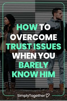 It's hard to trust someone you barely know. Bad experiences from the past only complicate matters. These are the strategies that helped me get over trust issues in my relationship. New Relationships, Relationship Advice, Trust Issues, Dating Advice, Help Me, Get Over It, News