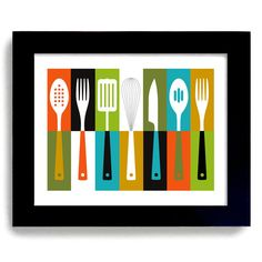 Kitchen Art Mid Century Modern Cathrineholm Retro por DexMex