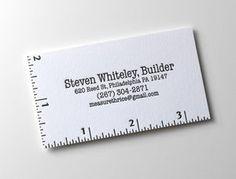 定規をデザインした名刺 : 『さすがデザイナー…!』と思わされるクリエイティブな名刺デザイン集 - NAVER まとめ