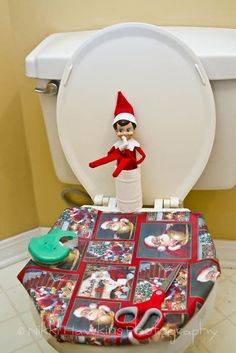 Love this. Have to do my bathroom so kiddos can pee during the night, lol. Or maybe wrap something else (like a door!)