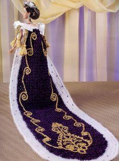 Королева Елизавета ii наряд для куклы Барби Annies Королевский двор вязаный узор новый