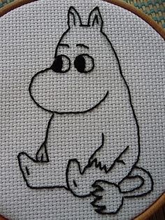 Embroidered Moomintroll