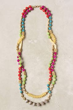 Anthropologie mixed spectra necklace