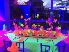 Quinceanera Party Planning – 5 Secrets For Having The Best Mexican Birthday Party Neon Birthday, 13th Birthday Parties, Sweet 16 Birthday, 15th Birthday, Birthday Ideas, Glow Party Decorations, Party Centerpieces, Party Themes, Party Ideas