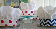 A chef party is the perfect kids party idea for any little one who loves to help in the kitchen. Use this chef hat tutorial to put your party over the top!
