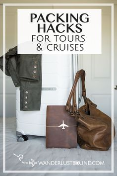 Packing hacks for multiple stop tours and cruises on your international trip. Suitcase Packing Tips, Packing Hacks, Packing Technique, Carry On Bag Essentials, Wanderlust, Trade Secret, Packing Light, Travel Size Products, Travel Bags