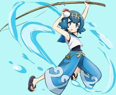 Lana from pokemon sun and moon pokemon pinterest for Fishing rod pokemon moon