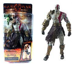 God Of War Kratos Statue W/ Medusa Head (Golden Fleece Armor)