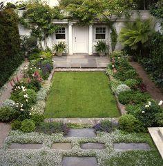 elizabeth everdell garden design - charming pacifici heights backyard small garden