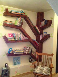 A creative bookcase that my friend, Janice Whittington's husband made. Awesome!