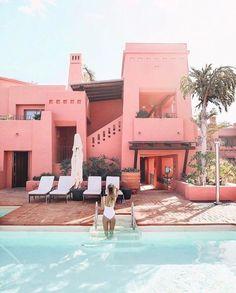 pink poolside