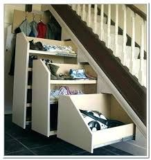 Shelves and storage spaces under staircase are the best tricks to use the area underneath the stairs.How many of you thought about using the ... Tags : #closet #pull #space Rack Design, Storage Design, Diy Storage, Storage Spaces, Storage Ideas, Shelving Ideas, Shoe Rack Under Stairs, Ikea Under Stairs, Basement Stairs