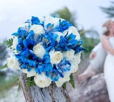 Beach Wedding - Blue Bouquet.