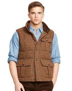 Plaid Wool-Blend Down Vest - Polo Ralph Lauren The New Traditional  - RalphLauren.com