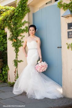 Beautiful wedding dress: http://www.stylemepretty.com/little-black-book-blog/2014/10/22/charlene-and-max-newport-estate-wedding/ | Photography: Grazier Photography - http://www.grazierphotography.com/