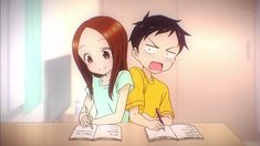 Karakai Jouzu no Takagi-san Subtitle Indonesia Manga Anime, Anime Chibi, Anime Art, Anime Character Drawing, Popular Anime, Manga Comics, Anime Love, Anime Couples, Aesthetic Anime
