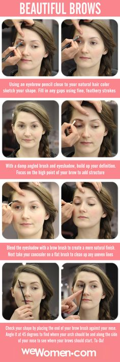 Beautiful, filled-in brows in no time flat! #makeuptutorial