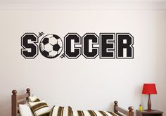 Soccer...Ball Wall Decal Quote