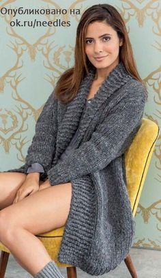 Find and save knitting and crochet schemas, simple recipes, and other ideas collected with love. Oversized Knit Cardigan, Knit Cardigan Pattern, Mohair Sweater, Sweater Coats, Crochet Coat, Crochet Mittens, Crochet Clothes, Coat Patterns, Knit Jacket