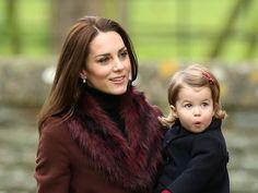Princess Charlotte and Kate Middleton Christmas 2016