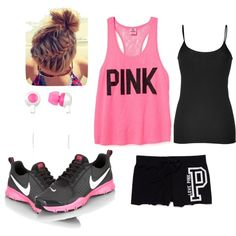 Work Out Ready!! by kenzie-jo on Polyvore featuring Vince, Victoria's Secret and NIKE