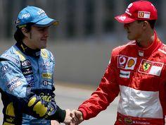 Fernando Alonso & Michael Schumacher - Interlagos 22/10/2006