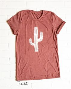 Choose from 2 different cactus designs and multiple shirt colors to create a custom tee or tank!