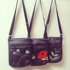 """Sneak peek of a new bag style coming out soon. Yesterday I showed this a to a customer in the shop and she said """"that's the best thing you've come out with for a while!"""" We are always hoping to hit the nail on the head - fingers crossed!  #minibag #sneakpeek #vegan #fauxleather #poppy #crossbodybag"""