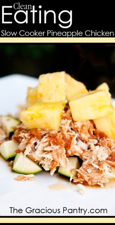 Clean Eating Slow Cooker Pineapple Chicken. @Tami Arnold Arnold Arnold Arnold Arnold Richardson @Rachel Rogatski   Going to try this. I might leave the salsa out, though.