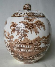 RARE Royal Staffordshire, Clarice Cliff signed Tonquin Cookie Jar or Biscuit Barrel @ www.EnglishTransferware.etsy.com