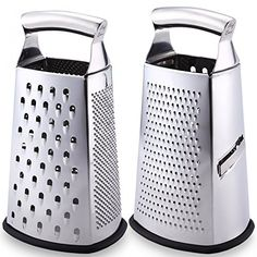 Latest Box Grater - Lifetime Replacement Warranty - Rated No.1 Stainless Steel Food Grater for Hard & Soft Cheese, Vegetables, Ginger, Zesting Lemon, Orange, Nuts - Time Saving Tool For Everyday Cooks - Chef Remi believes that families are the centerpiece of society and communities are stronger when they sit down together even if it's over a quick, wholesome meal. Our company is 100% committed to designing genuine quality kitchen tools to support busy parents that take the time to cook for…