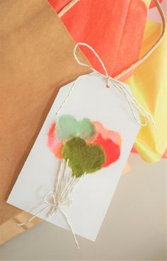 Love this new craft idea! Step by Step on How to Make a Balloon Gift Tag using the Japanese paper craft called, Chigiri that uses the technique of tearing and gluing Washi papers to create layered designs. Easy Paper Crafts, Kids Crafts, Construction Paper Crafts, Diy Wedding On A Budget, Diy Wedding Backdrop, Craft Ideas, Project Ideas, Diy Ideas, Diy Projects