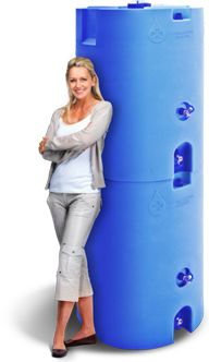 WaterPrepared - Stackable 160-gallon emergency water tanks.