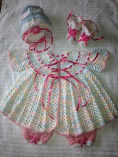 Ravelry: yralee's Lace & Hearts Baby Girl Outfit