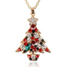 Tree Shape Shape Christmas Style Woman Necklaces New Design Woman Necklace Rhinestone Material Christmas Party Occasion Jewelry(China (Mainland))