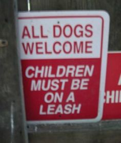 House rules! Sometimes the four-pawed kids are better behaved, right?