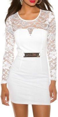 Dámské společenské šaty bílé