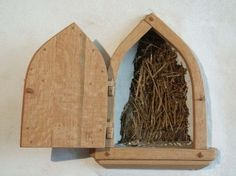 A Truth Window (or truth wall) is an opening in a wall surface, created to reveal the layers or components within the wall. In an eco built strawbale house, a truth window is often used to show that the walls are actually made from straw bales. A small section of a wall is left unplastered on the interior, and a frame is used to create a window which shows only straw, which makes up the inside of the wall.