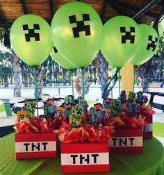 Minecraft ideas para cumpleaños - Minecraft World Pastel Minecraft, Craft Minecraft, Minecraft Party Favors, Minecraft Party Decorations, Minecraft Birthday Party, Ideas Minecraft, Minecraft Memes, Minecraft Poster, 9th Birthday Parties