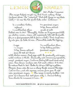 http://www.susanbranch.com/wp-content/cooking/Susan-Branch-lemon-squares.php