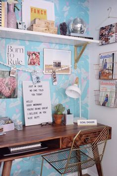 How to create a well-organized, beautifully styled home office nook when space is limited. See the before and after on our blog!